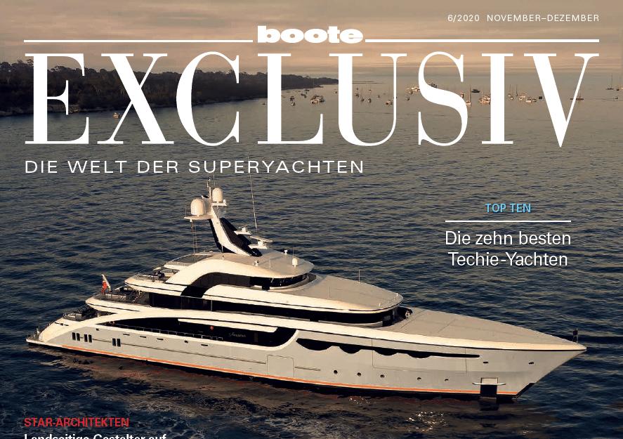 Bericht in Boote Exclusiv–Die Welt der Superyachten